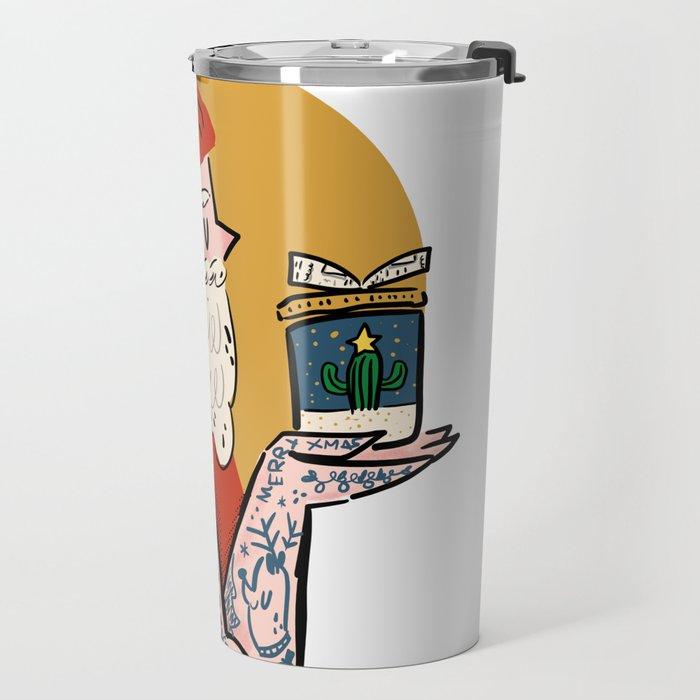 Hipster Santa Travel Mug