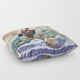 Ukiyo-e tale: The legend Floor Pillow