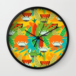 Watermelons and carrots Wall Clock
