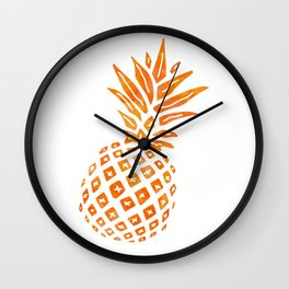 Orange Swirl Pineapple - Single Wall Clock