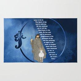Jesus of Nazareth the Good Shepherd Rug