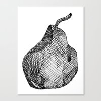 pear Canvas Prints featuring Pear by Of Newts and Nerds