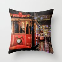 istanbul Throw Pillows featuring Istanbul by Seza Kaymak