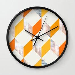 ORANGE ZIG ZAG  Wall Clock