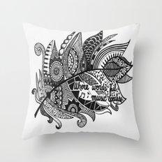 Zentangle Feather Throw Pillow