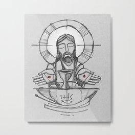 Jesus Christ Eucharist illustration Metal Print