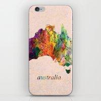 australia iPhone & iPod Skins featuring Australia  by mark ashkenazi