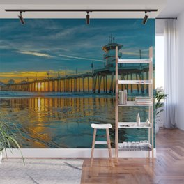 Wet Sand at Sunset Wall Mural