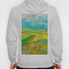 Wheat Fields after the Rain (The Plain of Auvers), July 1890 Oil Painting by Vincent van Gogh Hoody