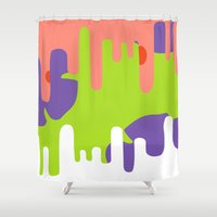patrick Shower Curtains featuring Patrick Stardrip  by JessicaSzymanski