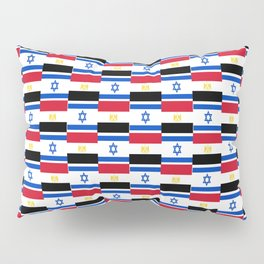Mix of flag: Israel and Egypt Pillow Sham