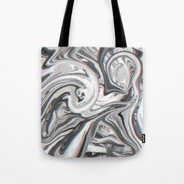 Marble Glitch Pattern Tote Bag