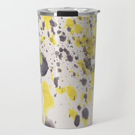 Yellow Grey Classic Abstract Art Travel Mug