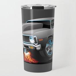 Classic American Muscle Car Hot Rod Cartoon Travel Mug