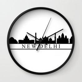 skyline new delhi Wall Clock