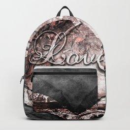 Ink Stamp Heart Backpack