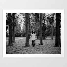 It's best to visit woods in white Art Print