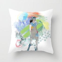 Watercolor Wonderland Throw Pillow