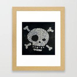 Confetti's skull Framed Art Print