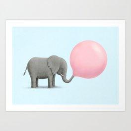 Jumbo Bubble Gum Art Print