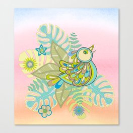 Free tropical bird Canvas Print