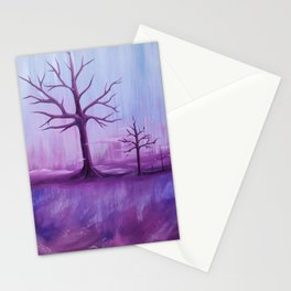 Purple Winter Stationery Cards