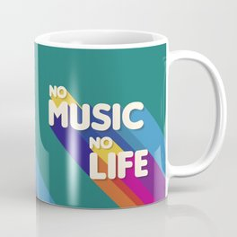 music in my life - typography Coffee Mug