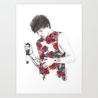 coconutwishes Art Prints featuring Floral Louis by Coconut Wishes