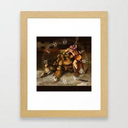 Chrono Clock Framed Art Print