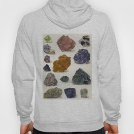 The Mineral Kingdom by Dr. Reinhard Brauns, 1903. Germany. Beautiful Gems Mineral Jewels Hoody