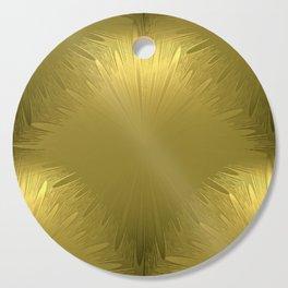 Golden Starburst Pattern Cutting Board