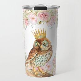 Owl on the hand Travel Mug