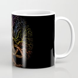 Colorful Tree of life with Triquetra Coffee Mug