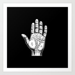 Palm Reading Art Print