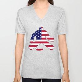 American Flag Goalie Unisex V-Neck