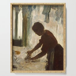 A Woman Ironing by Edgar Degas, 1873 Serving Tray
