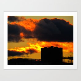March Sunset in Portland, Maine (1) Art Print
