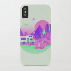 Outer Space Camping Slim Case iPhone X