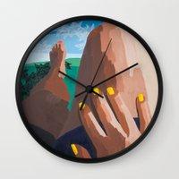 legs Wall Clocks featuring Legs  by Shelley Chandelier