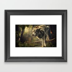 Faster (Wolf and Squirrel) Framed Art Print