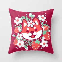 Ichigo Inu Throw Pillow