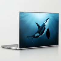 orca Laptop & iPad Skins featuring The Dreamer  ~ Orca ~ Killer Whale by Amber Marine