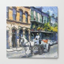 NOLA Carriage Stroll Metal Print