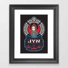 Jyn the rebel Framed Art Print