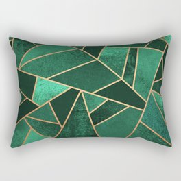 Emerald and Copper Rectangular Pillow