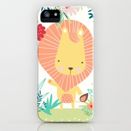Lion in the Jungle iPhone Case