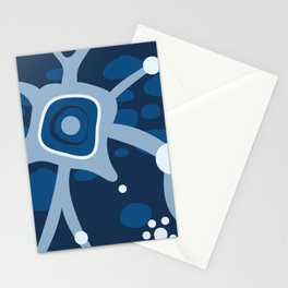 Neural Network Classic Blue Stationery Cards