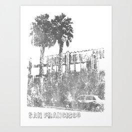 Marina Palm Trees Art Print