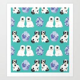 Staffordshire Dogs + Ginger Jars No. 2 Art Print