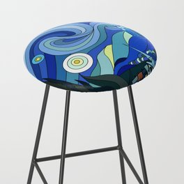 Tardis Art Starry Night Bar Stool